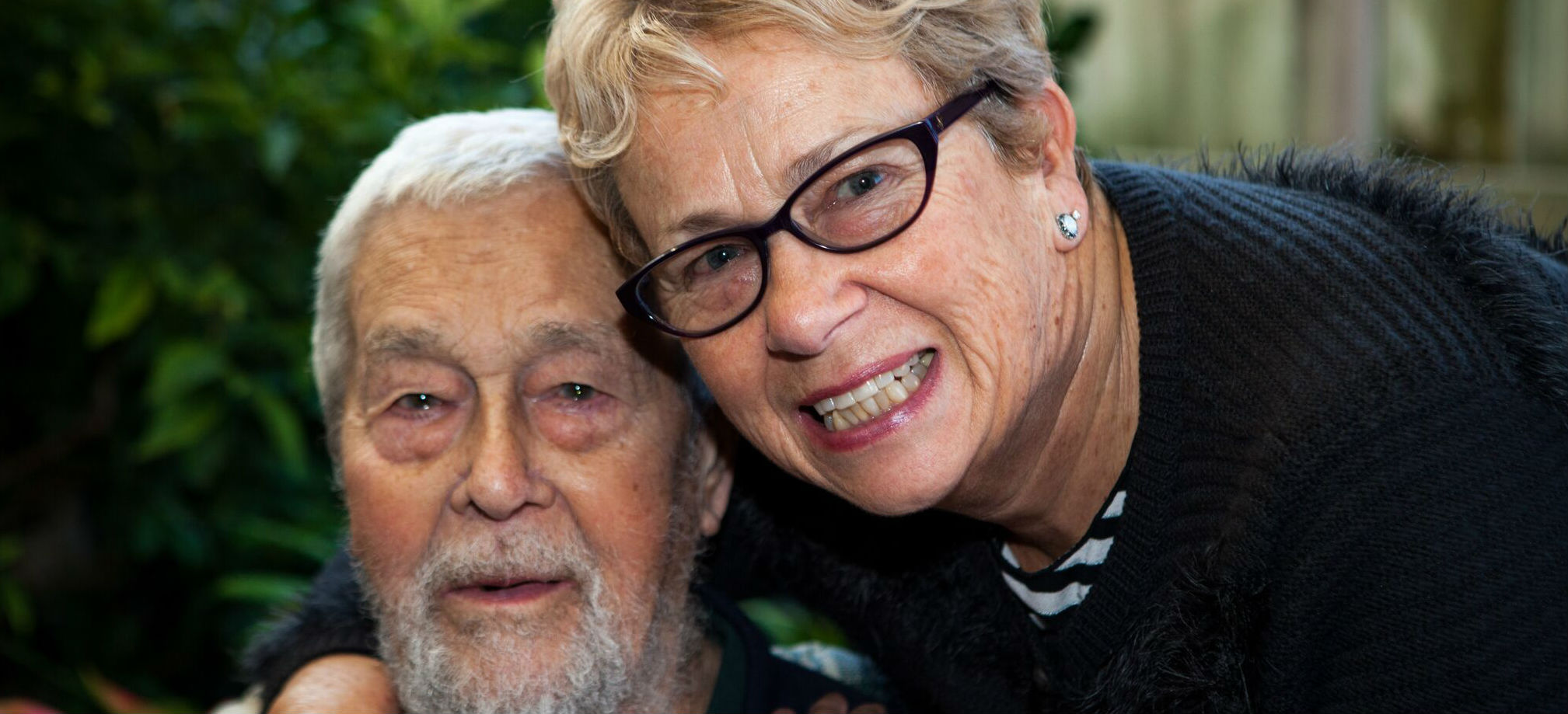 Elderly man and lady together